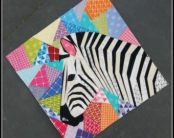 20 Inch Zebra in Profile Foundation Paper Pieced Quilt Pattern