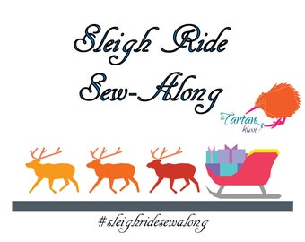 Sleigh Ride Sew-Along, Foundation Paper Pieced Reindeer and Sleigh