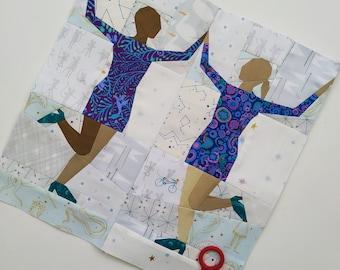 Dance Around the World, Foundation Paper Pieced Quilt Pattern