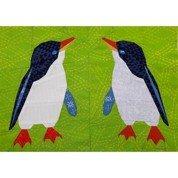 Foundation Paper Pieced Little Blue Penguin Quilt Pattern