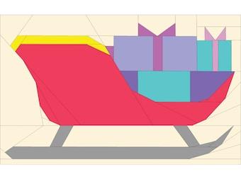 Santa Sleigh Foundation Paper Pieced Quilt Pattern