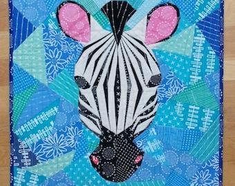 20 Inch Zebra Foundation Paper Pieced Quilt Pattern