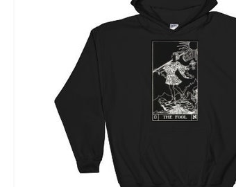 The Fool Tarot Card Hoodie In Negative