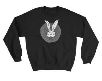 Rabbit Hole Sweatshirt, Evil Bunnie Sweatshirt, Bunny Sweatshirt