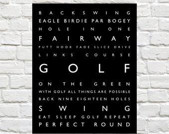 Golf - Sports Decor. Personalized Prints, Modern Playroom Prints, Kids Sports Art, Typography, Kids Sports Decor, Golf Print, Sports Nursery