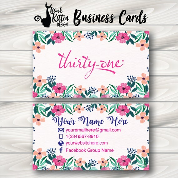 Printed Thirty One Business Cards Thirty One Cards Thirty Etsy