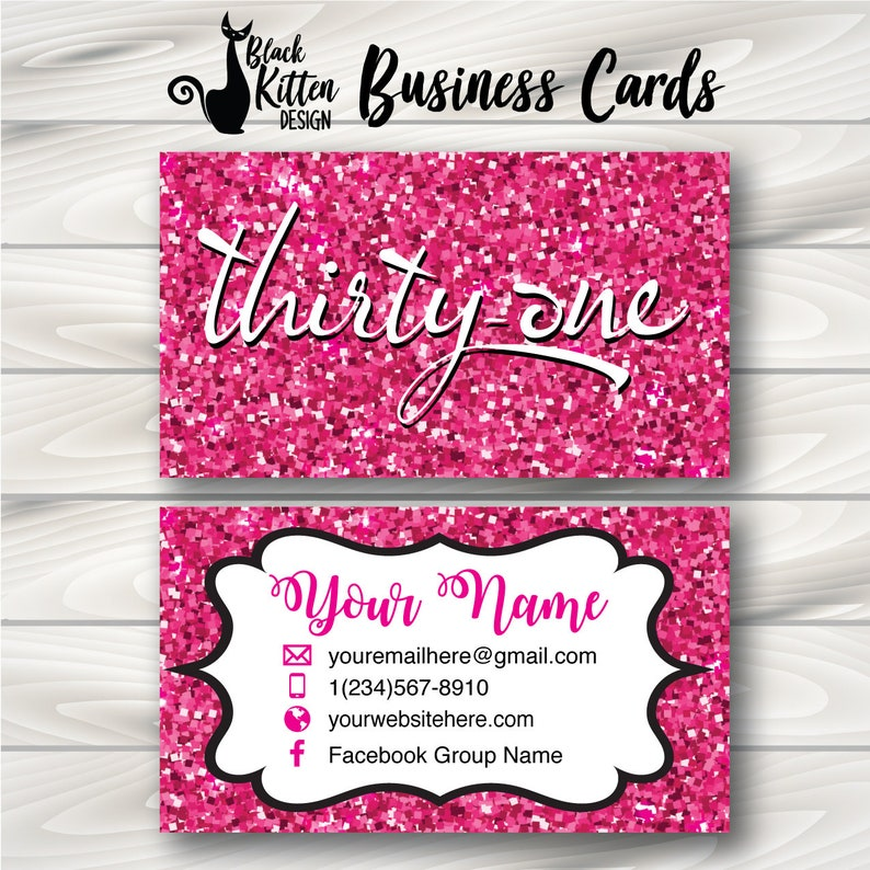Printed Thirty One Business Cards Thirty One Cards Etsy