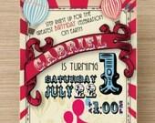 Circus Invitation - Carnival invite - Carnival Invitation, Carnival Birthday, Circus Birthday Invitation, Carnival Party birthday party
