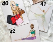 Fashion Illustration Prints  - 8x10 - fashion illustration gifts for her