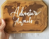 Adventure Awaits Key Holder for Wall - Customizable Keyhooks