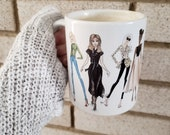 Fashion illustration Coffee Mug 11oz - Fashion sketch mug tea Cup coffee time Fashion