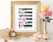 Digital Download - Hebrews 6:15 wall art  - Home Decor Digital Print - Office Bedroom decor - Bible Verse