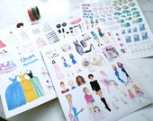 Fashion Planner Stickers Happy Planner fashion set - Matte, Permanent / Planner Agenda Stickers, Fashion Art, Fashion Illustration Stickers