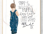 Personalized Son or Nephew Little Boy Quote customizable gift fashion illustration