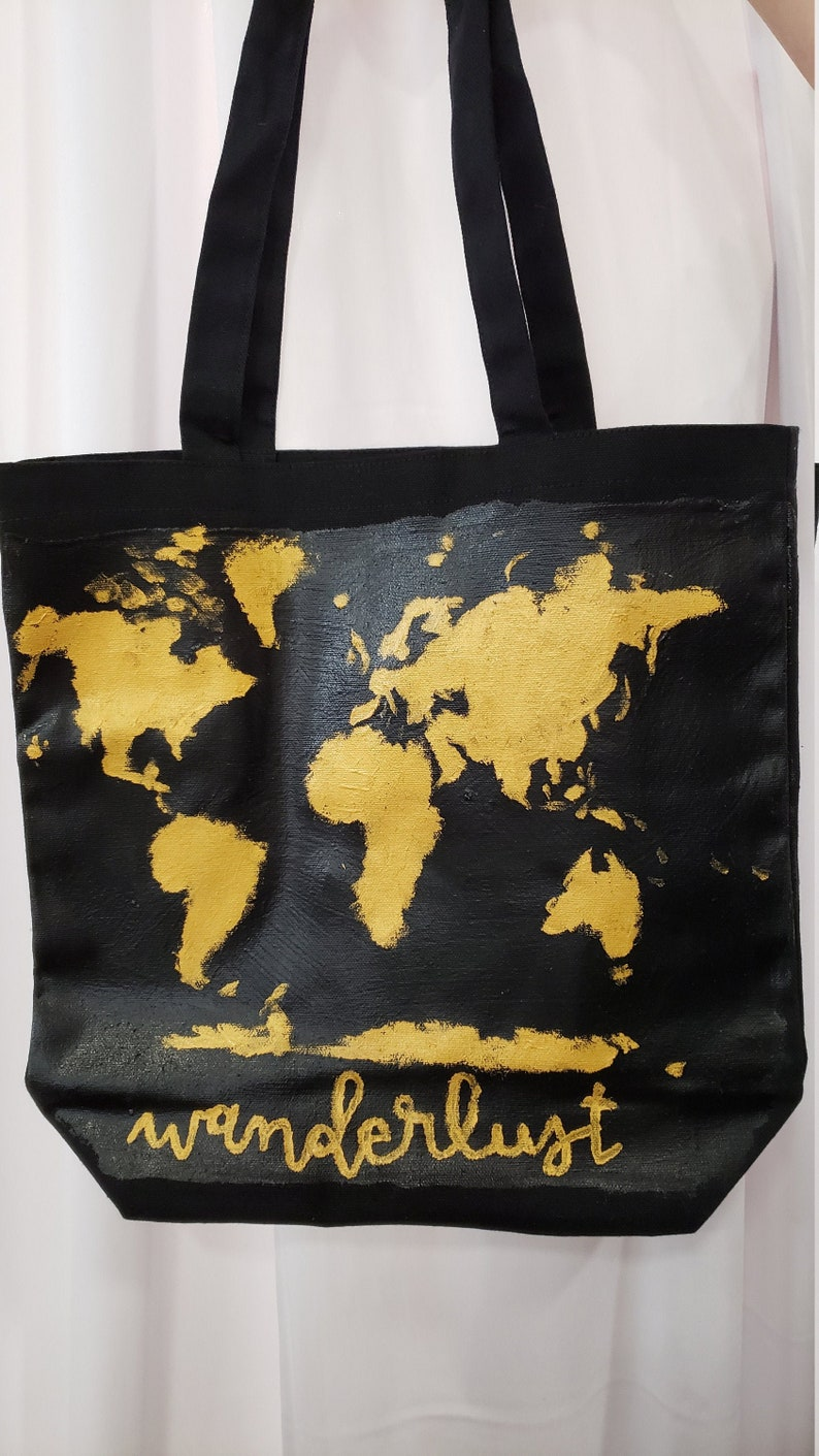 Personalized Tote Bag wanderlust adventure travel tote image 0