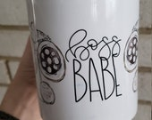 Coffee Mug Boss Babe Mug - Girl Boss Quote - calligraphy mug -  Coffee Cup Classic White 11 oz Coffee Mug