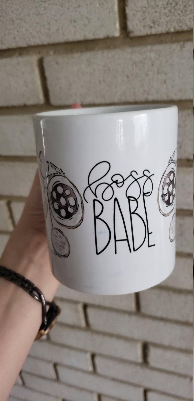 Coffee Mug Boss Babe Mug  Girl Boss Quote  calligraphy mug  image 0