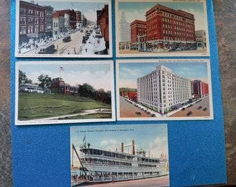Davenport Ephemera 1907 The Puritans Antique Postcard Artist Signed R.A