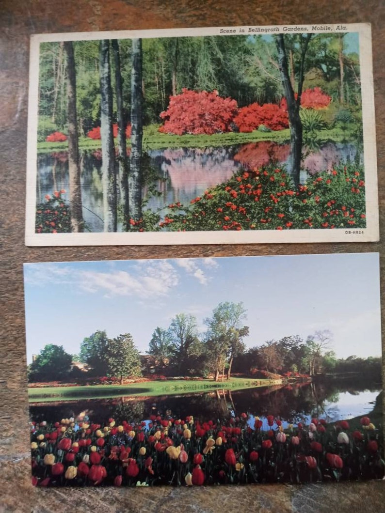 9 Vintage Mobile Alabama Postcards Bellgrath Gardens Free Domestic Shipping Fort Conde Charlotte House Alabama Beach