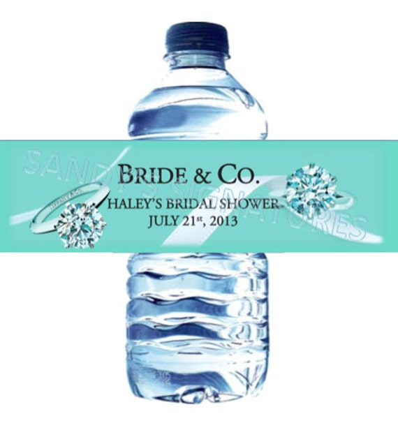 48 Bride Amp Co Bridal Shower Water Bottle Labels