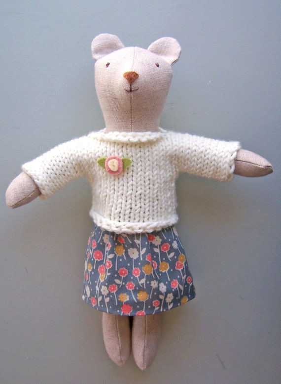 Knit Sweater And Skirt Pdf Knitting And Sewing Pattern Simple Etsy