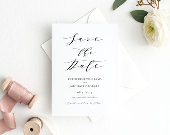 classy save the date etsy