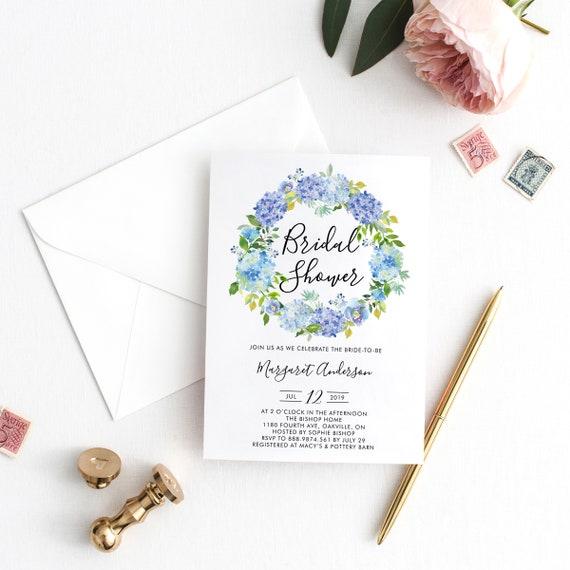 Instant Download Bridal Shower Invitation Template Etsy