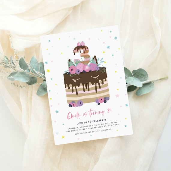 Instant Download Kids Birthday Party Invitation Template Etsy
