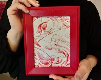 Moby Dick Framed Laminate Print