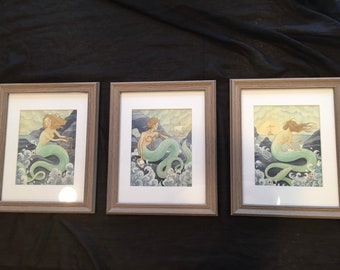 Siren Collection- 3 Original Paintings