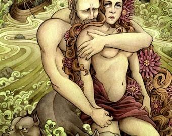 8x10 Art Print - Persephone & Hades