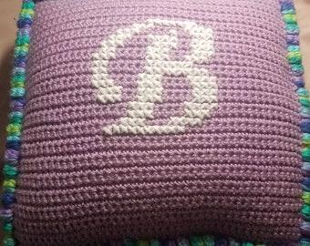 Monogrammed Princess Pillow crochet pattern