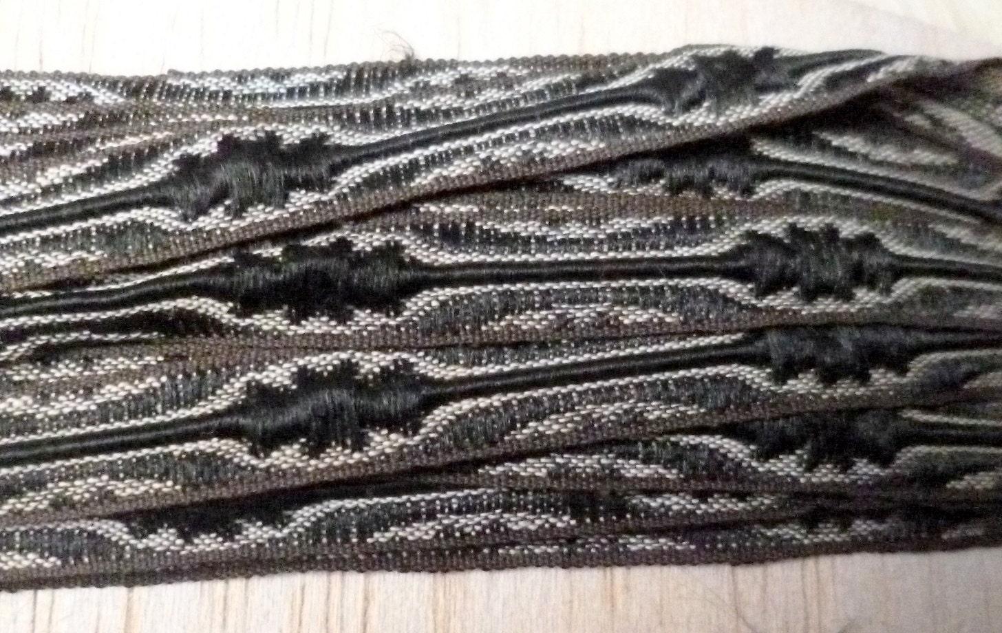 Antiques brun Français soie ruban soie brun Antiques Trim, Pasamaneria noir 51bc12