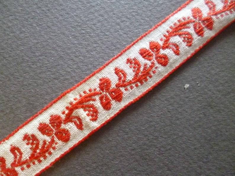 Antique French cotton ribbon Trim  Pasamaneria de algodon 25 metros
