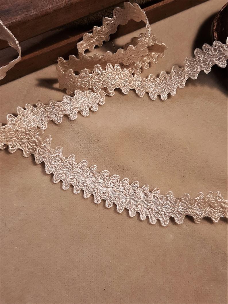 antigua pasamaner\u00eda de seda brocada de origen franc\u00e9s 1920