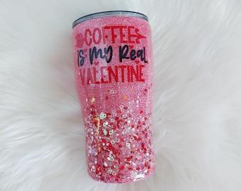 20 oz XOXO Y/'all Valentine Glitter Tumbler