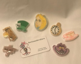 Alice In Wonderland Brooch Pins