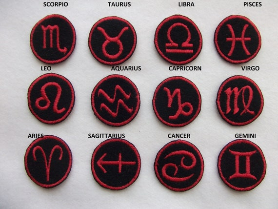 Zodiac Patches from Etsy