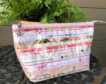 Zipper Bag   Travel Bag   Handmade Zipper Bag   Project Bag   Storage Tote   School Bag