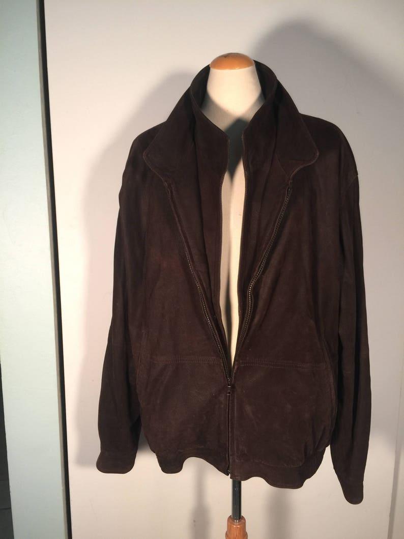 9f71ac9c0d1 Chaqueta cuero Vintage abrigos Remy 43 | Etsy