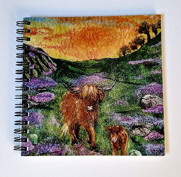 Highland Cow with calf 3D Notebook Ideal Gift