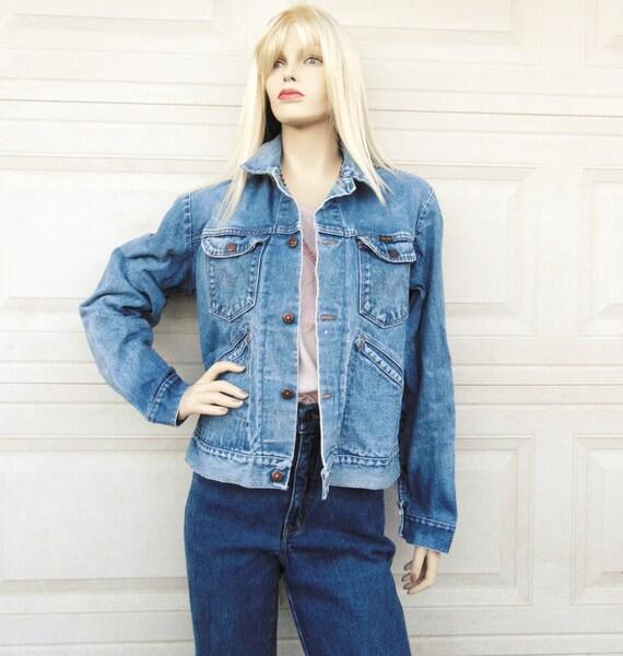 Vintage 60's-70's Maverick Denim Jacket, Sz Small