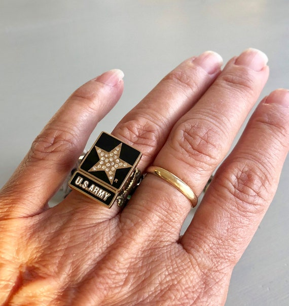 USMC Marines Military Ring Size 5-15 Men/'s and Ladies American Flag On Side