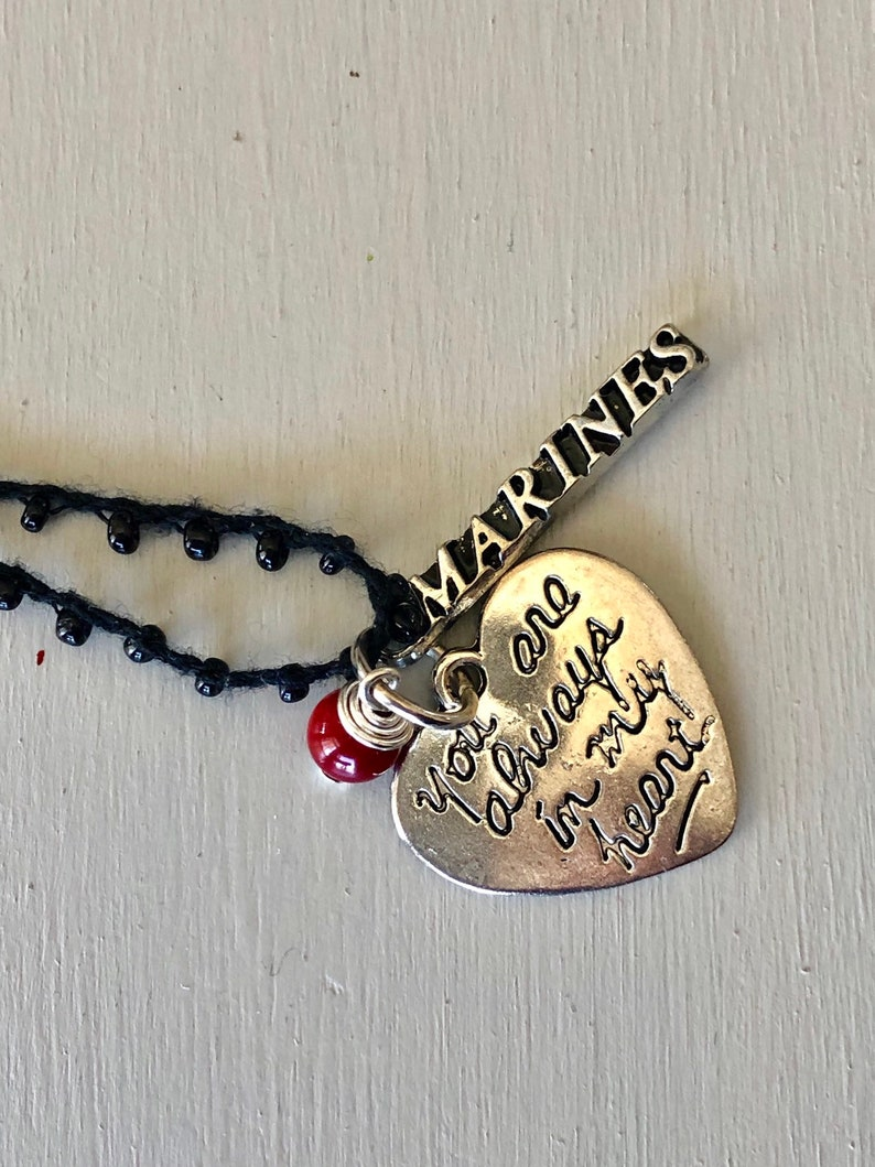Nana I Love Heart My Silver Toggle Necklace Crystal Black Rectangle Jewelry