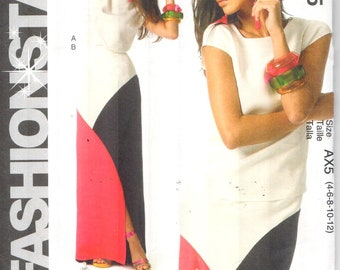 323e02d7cb52d Color block skirt   Etsy