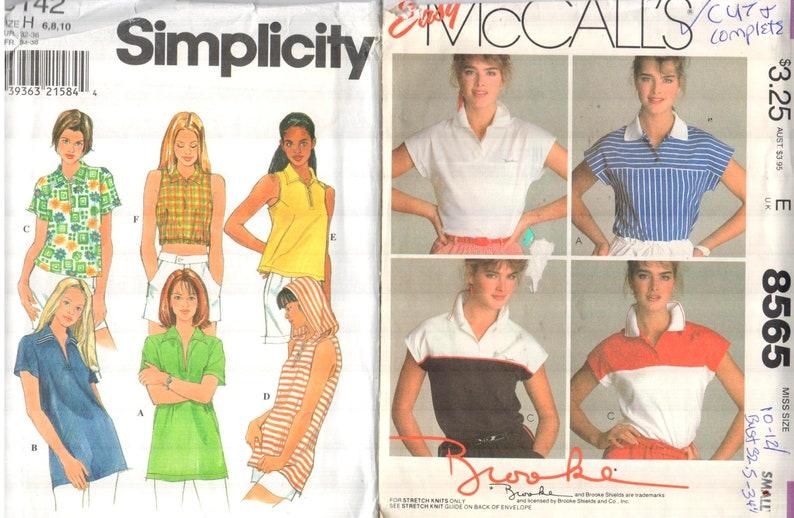 a30e15cfb5cb LOT of 2 Misses Athleisure wear pattern  McCalls 8565 Sz 10-12