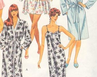 "McCalls 5112 Sz 14-16/Bust 36-38"".  Lingerie/Nightgown/Robe/Camisole, EASY UNCUT Sleepwear Sewing Pattern"