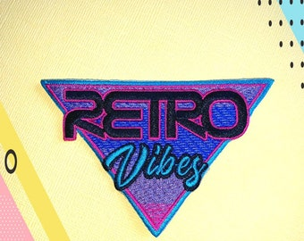 Synthwave patch | Etsy