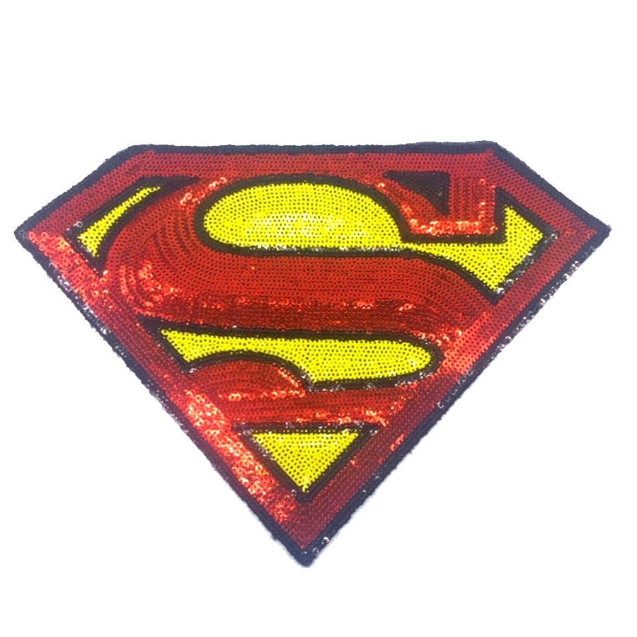 99 Sew On Sequin Comic Book Superhero Superman Chest Etsy