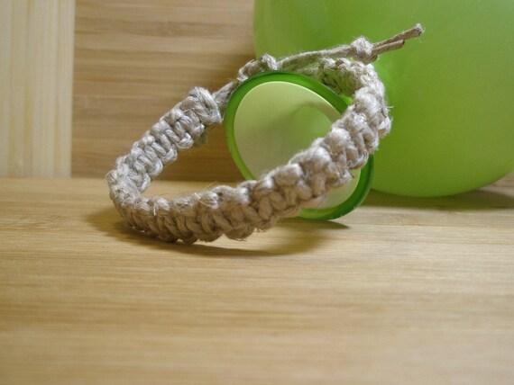 Mens Hemp Bracelet Natural Hemp Bracelet For Guys Chunky Man Etsy
